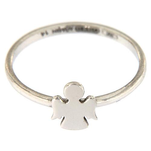 AMEN ring 925 rhodium-plated silver Angel 2