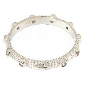 Anello rosario slim argento 925 zirconi bianchi s2