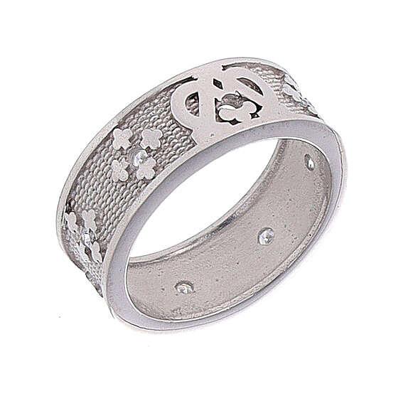Anello fascia argento 925 Maria zirconi 3