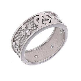 Anello fascia argento 925 Maria zirconi s1