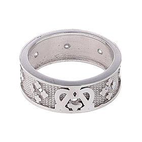 Anello fascia argento 925 Maria zirconi s2