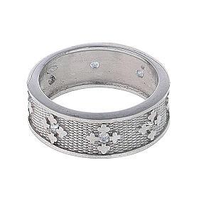 Anello fascia argento 925 Maria zirconi s3