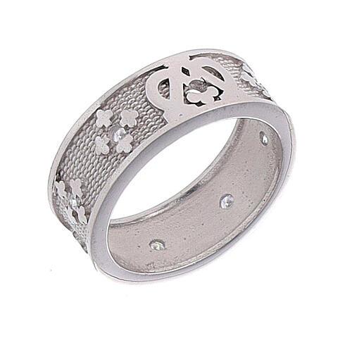 Anello fascia argento 925 Maria zirconi 1