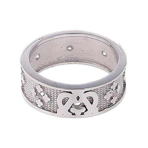 Anello fascia argento 925 Maria zirconi 2