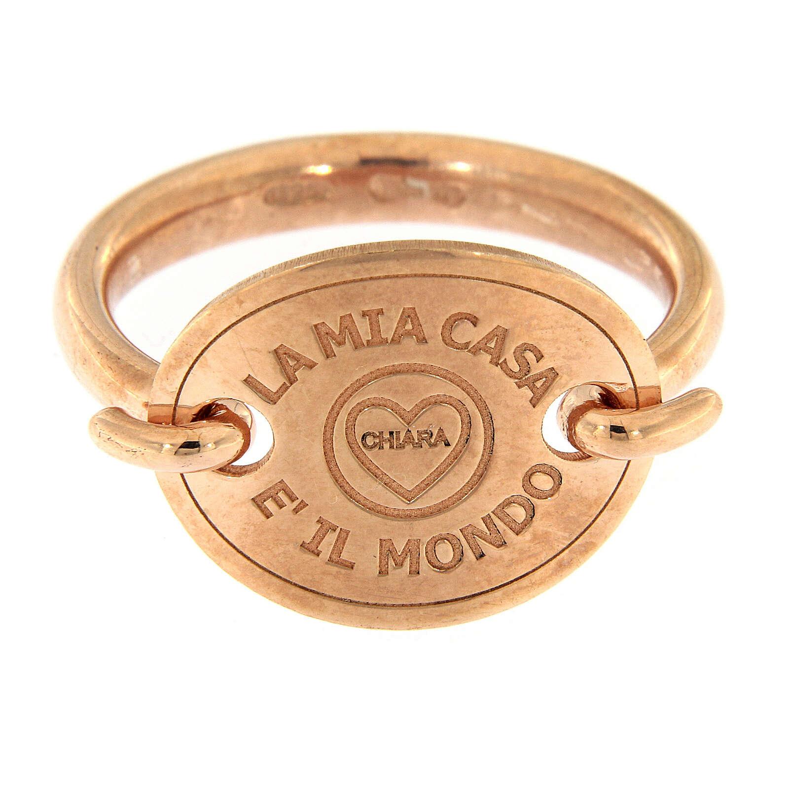 Anillo rosado La Mia Casa è Il Mondo plata 925 3