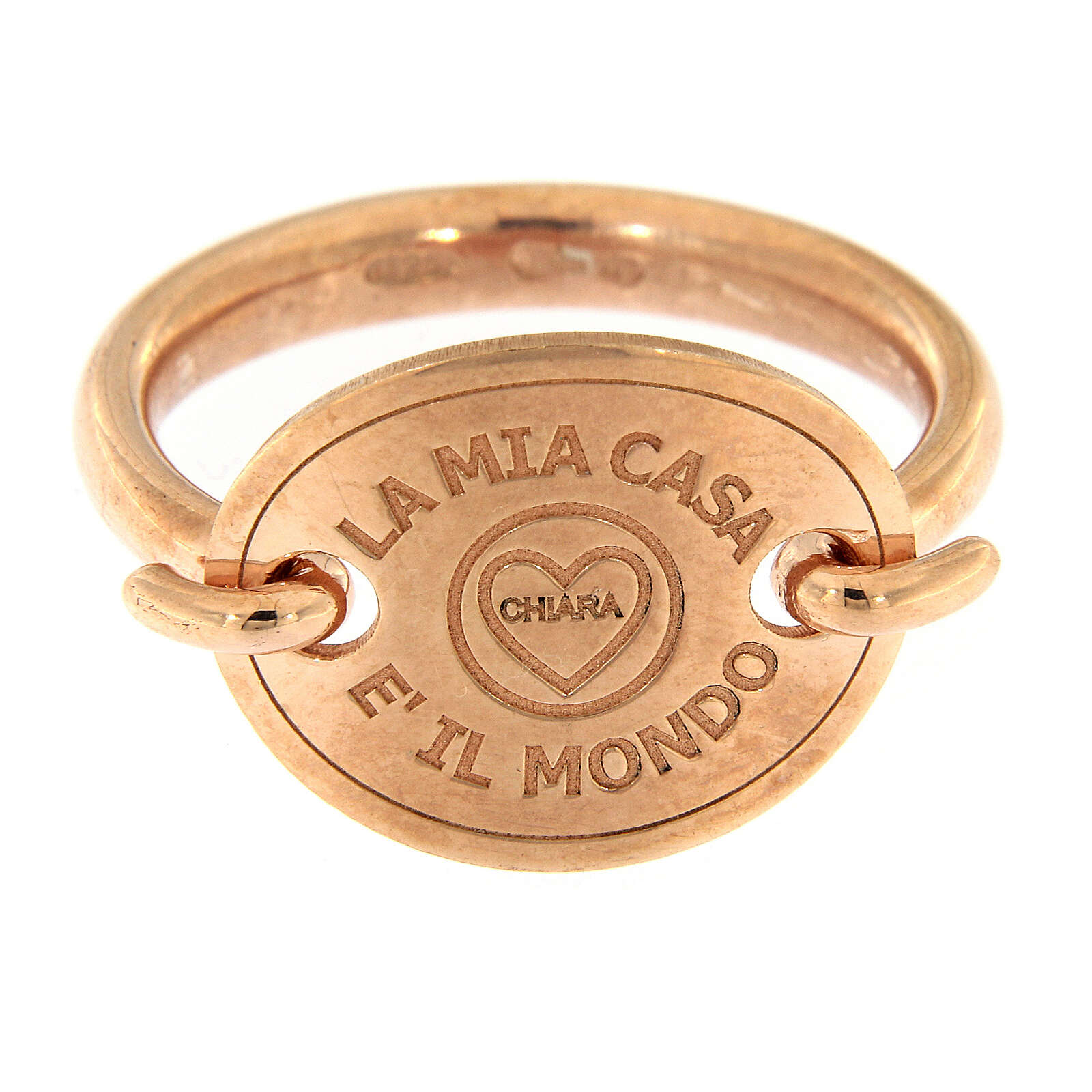 Anello rosé La Mia Casa è Il Mondo argento 925 3