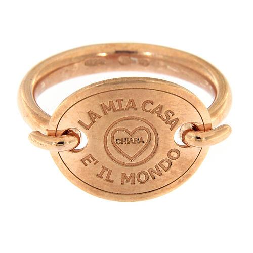 Anello rosé La Mia Casa è Il Mondo argento 925 2