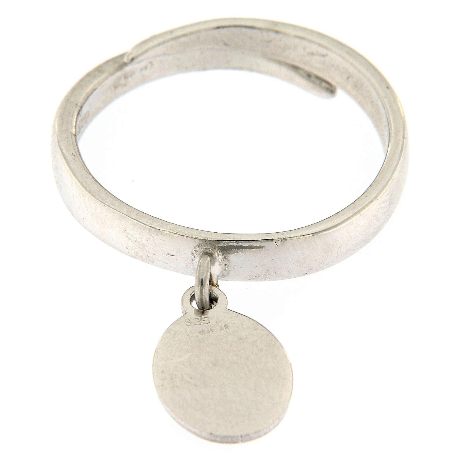 Anillo medalla Sólo El Amor Queda plata 925 3