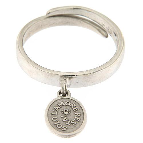 Anillo medalla Sólo El Amor Queda plata 925 1