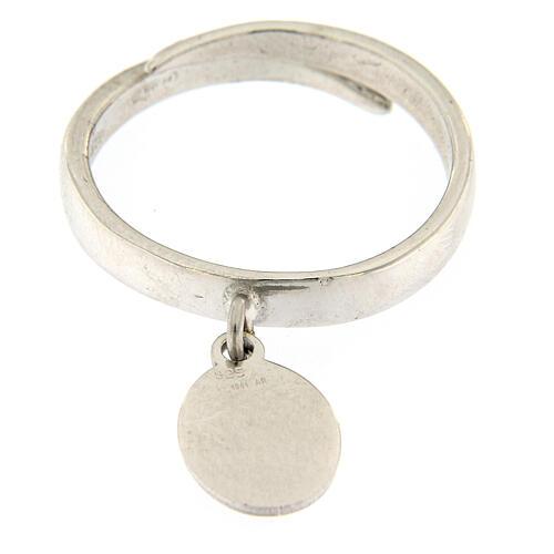 Anillo medalla Sólo El Amor Queda plata 925 2