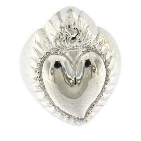 Anillo corazón votivo plata 925 lúcido 20 mm s2