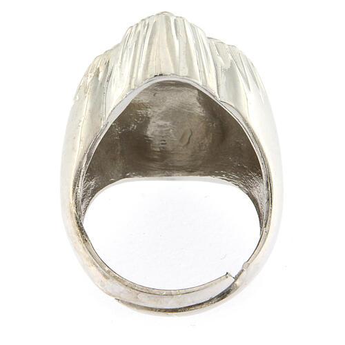 Anillo corazón votivo plata 925 lúcido 20 mm 5