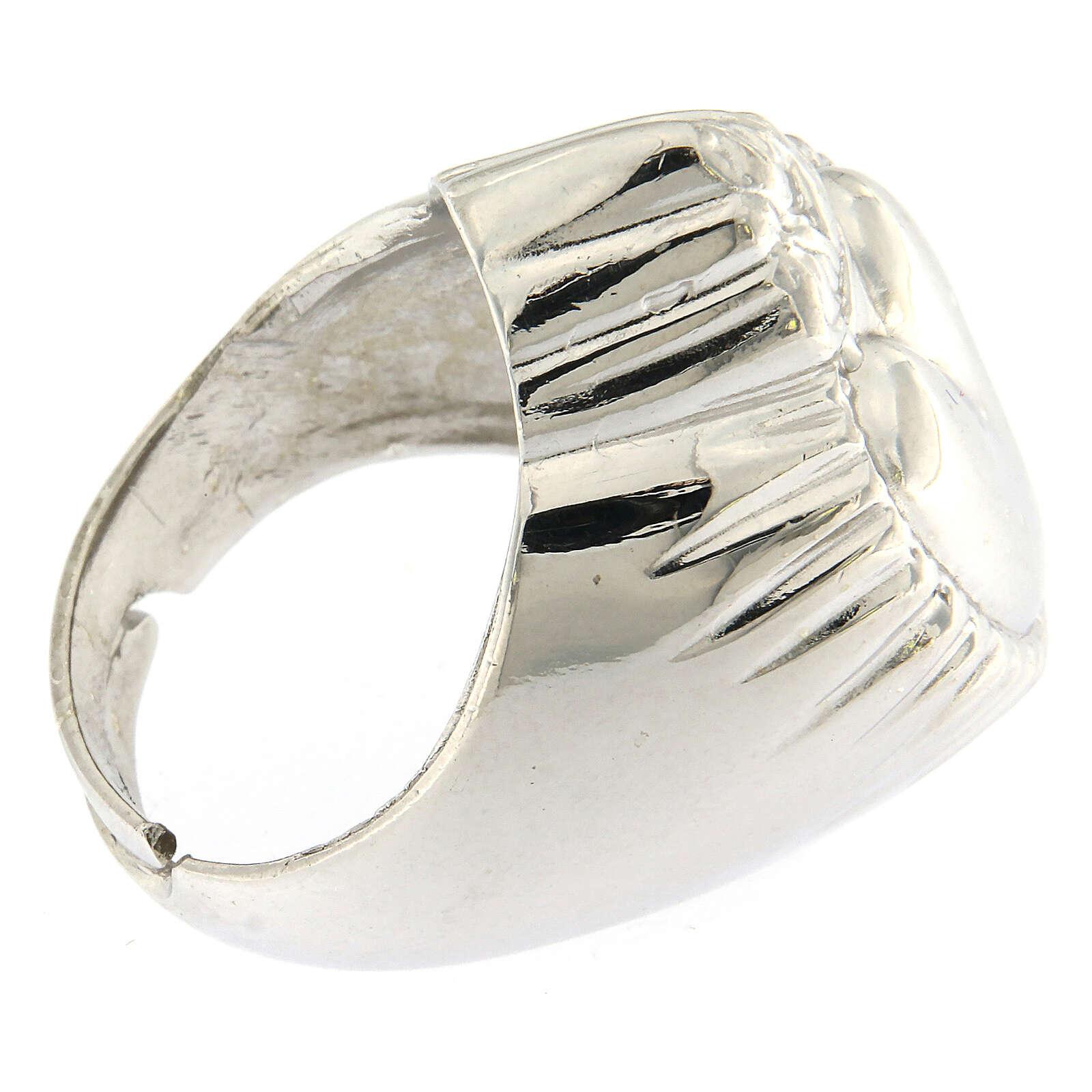Anello cuore votivo argento 925 lucido 20 mm 3