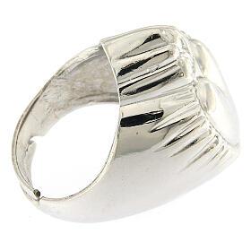 Anello cuore votivo argento 925 lucido 20 mm s3