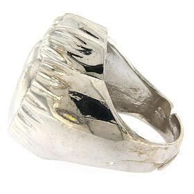 Anello cuore votivo argento 925 lucido 20 mm s4