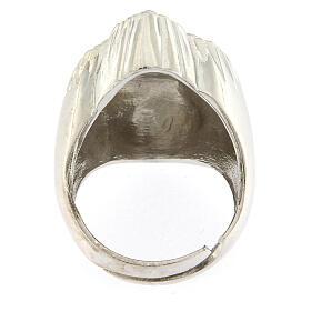 Anello cuore votivo argento 925 lucido 20 mm s5