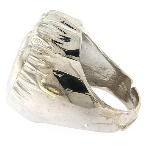 Anello cuore votivo argento 925 lucido 20 mm 4