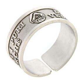 Anello Beati i Puri di Cuore argento 925 regolabile s1