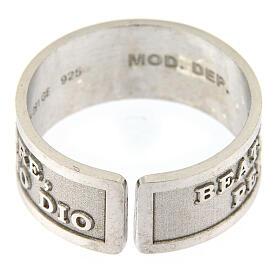 Anello Beati i Puri di Cuore argento 925 regolabile s2