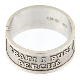 Anello Beati i Puri di Cuore argento 925 regolabile s4