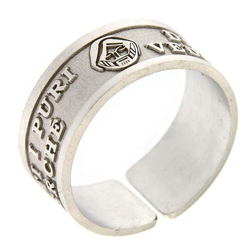Anello Beati i Puri di Cuore argento 925 regolabile 1