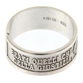 Anello Beatitudini Fame e Sete di Giustizia argento 925 s3