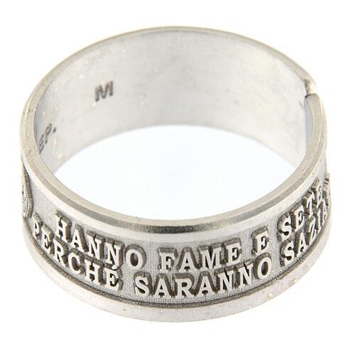 Anello Beatitudini Fame e Sete di Giustizia argento 925 2