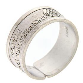 Anillo plata 925 Beati i Misericordiosi ajustable s1