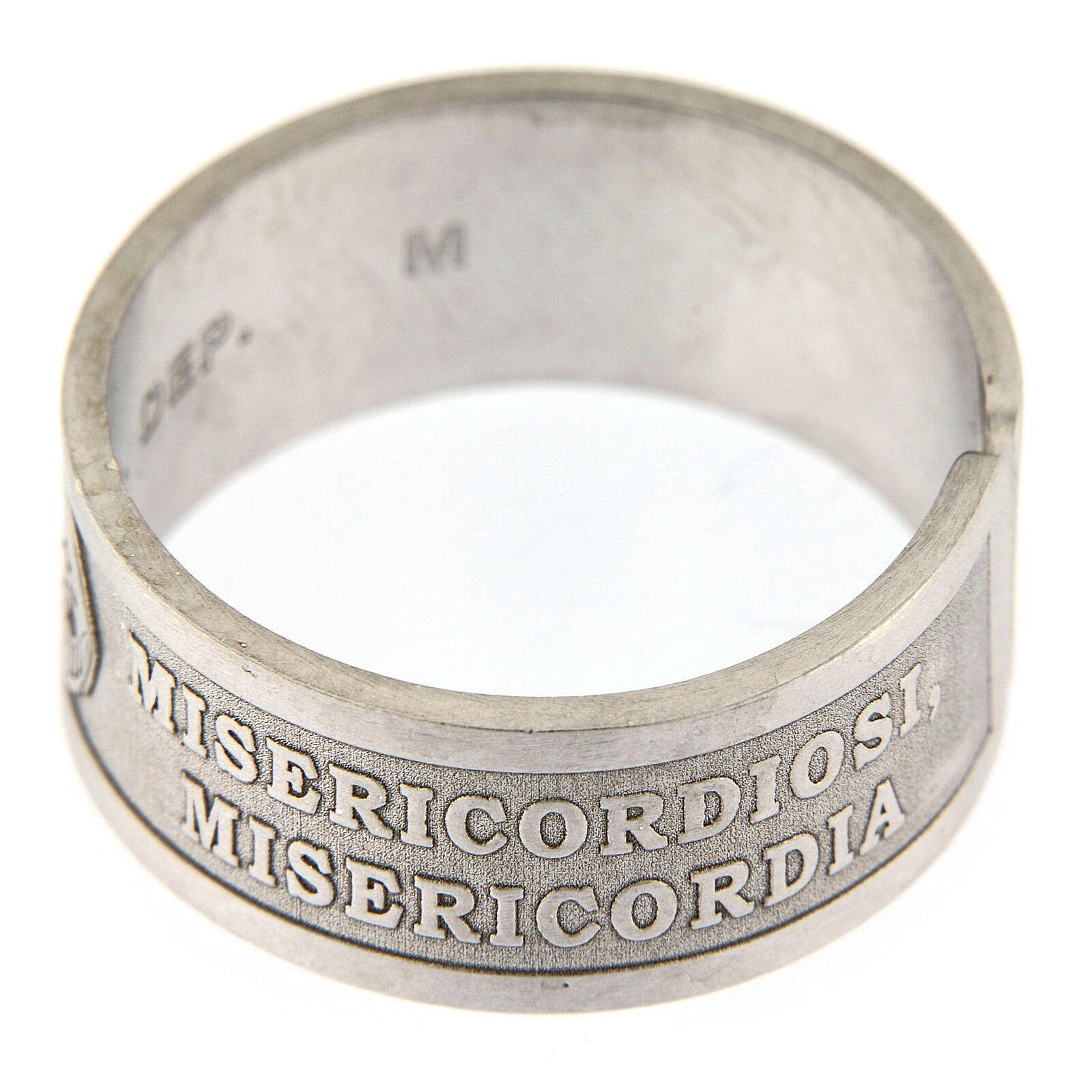 Anello argento 925 Beati i Misericordiosi regolabile 3