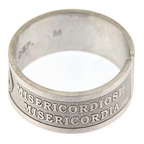 Anello argento 925 Beati i Misericordiosi regolabile s3