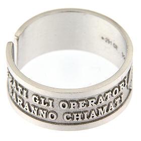 Anello argento 925 Beati gli Operatori di Pace con apertura s2