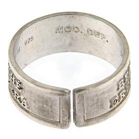 Anello Beati i Miti argento 925 apertura regolabile s4
