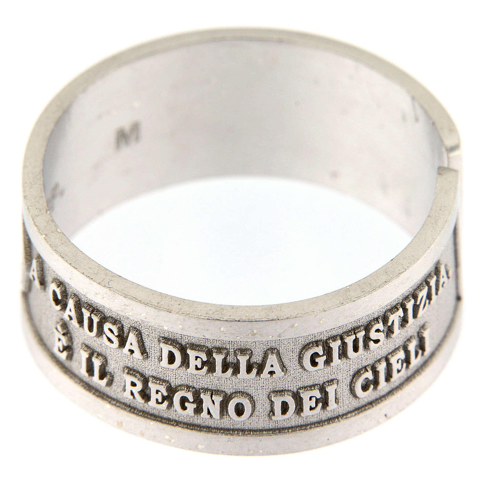 Anillo Beati i Perseguitati plata 925 abierto 3