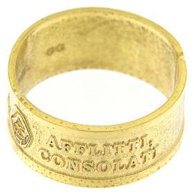 Anillo plata sterling dorada Beati gli Afflitti abierto s2