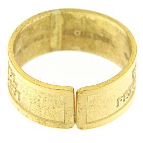 Anillo plata sterling dorada Beati gli Afflitti abierto s4