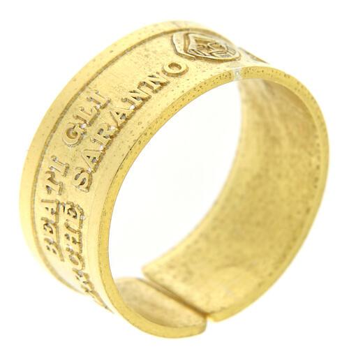 Anillo plata sterling dorada Beati gli Afflitti abierto 1