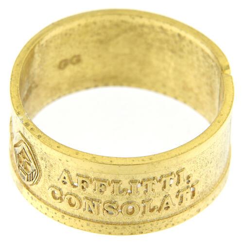 Anillo plata sterling dorada Beati gli Afflitti abierto 2