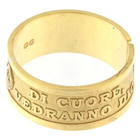 Anello Beatitudini argento 925 dorato Beati i Puri di Cuore s3