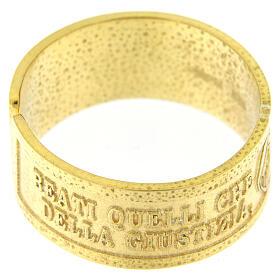 Bague Faim et Soif de Justice argent 925 doré avec ouverture s2