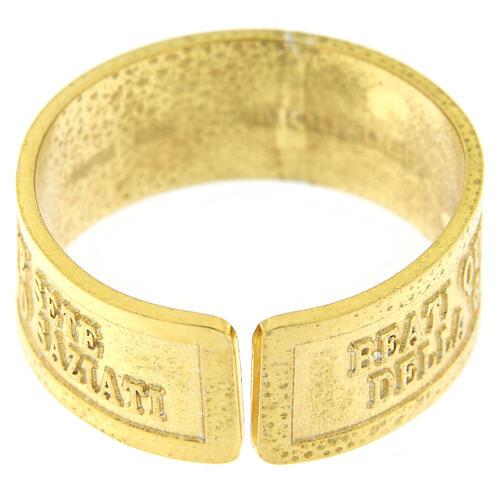 Bague Faim et Soif de Justice argent 925 doré avec ouverture 4