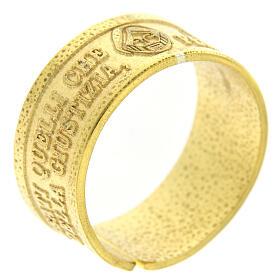 Anello Fame e Sete di Giustizia argento 925 dorato con apertura s1