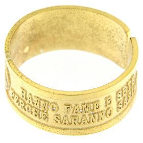 Anello Fame e Sete di Giustizia argento 925 dorato con apertura s3