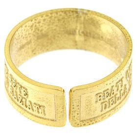 Anello Fame e Sete di Giustizia argento 925 dorato con apertura s4
