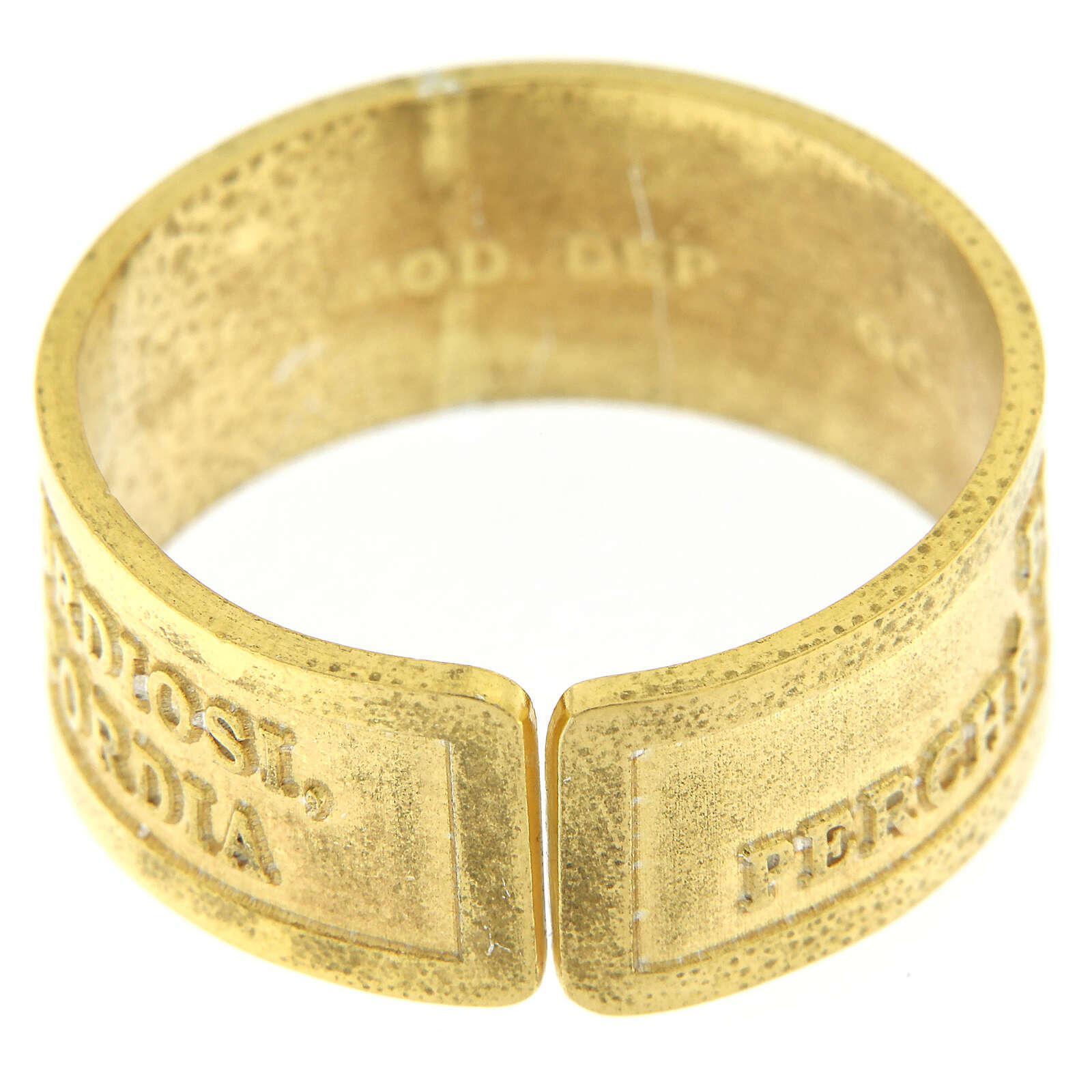 Anillo plata dorada 925 Beati i Misericordiosi 3