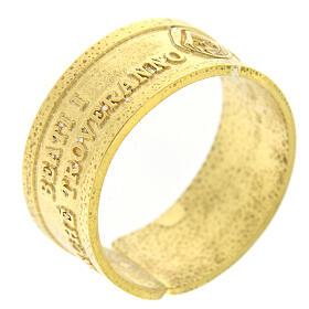 Anillo plata dorada 925 Beati i Misericordiosi s1