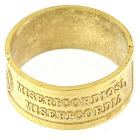 Anillo plata dorada 925 Beati i Misericordiosi s2