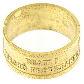 Anillo plata dorada 925 Beati i Misericordiosi s3