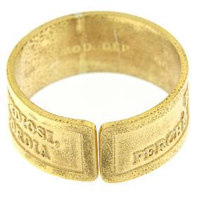 Bague argent doré 925 Heureux les Miséricordieux s4