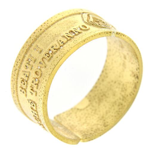 Bague argent doré 925 Heureux les Miséricordieux 1
