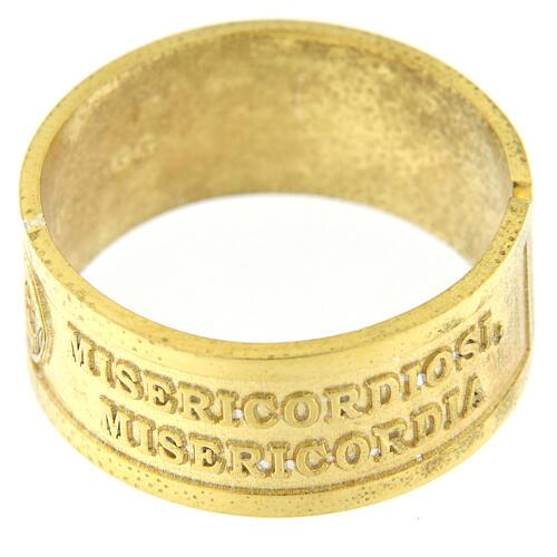 Bague argent doré 925 Heureux les Miséricordieux 2
